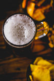 Light beer with snack, party concept Royalty Free Stock Photos