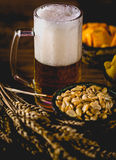 Light beer with snack, party concept Stock Photos