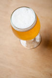 Light beer on wood Royalty Free Stock Image