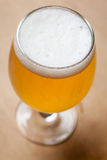 Light beer on wood Stock Image
