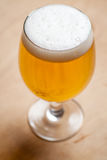 Light beer on wood Royalty Free Stock Images