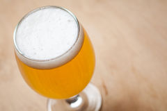 Light beer on wood Royalty Free Stock Photos