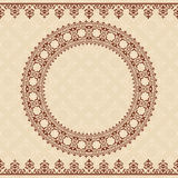 Light beige vector background with brown ornament Stock Photography