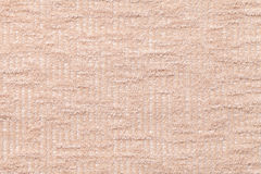 Light beige fluffy background of soft, fleecy cloth. Texture of plush furry textile, closeup. Stock Image