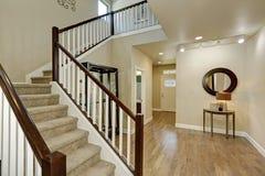 Light beige hallway interior. Stock Images