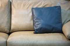 light beige leather sofa Stock Images
