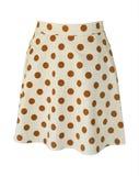 Light beige polka dot skirt Royalty Free Stock Photos