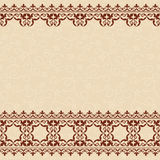Light beige seamless vector background with brown  Stock Photos