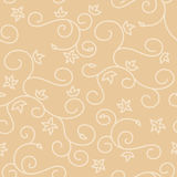 Light beige seamless background with swirl texture Royalty Free Stock Photo
