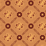 Light beige vector geometrical seamless texture Royalty Free Stock Images