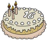 Light birthday cake Stock Image