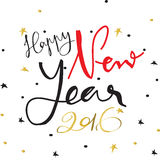 Light black red gold happy new year with star Stock Photography