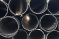 The light from the black rubber tube overlaps stock photo