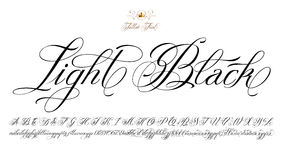 Light Black Tattoo Font Royalty Free Stock Images