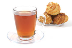 Light black tea and cakes Royalty Free Stock Image