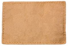 Light Blank Leather jeans clothing Label tag royalty free stock photo