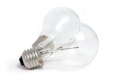 Light blub. Two light blub on a white surface Stock Image