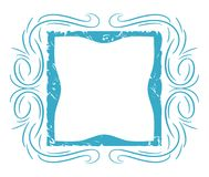 Light blue abstract frame isolated Stock Image