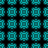 Light Blue Abstract Seamless Pattern on a Black Background Stock Images