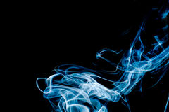 Light Blue  Abstract Smoke Royalty Free Stock Photo