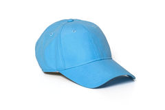 Light blue adult golf or baseball cap. On white background Royalty Free Stock Photos