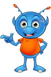 Light Blue Alien Character Royalty Free Stock Photography
