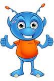 Light Blue Alien Character Stock Photo
