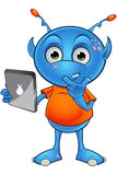 Light Blue Alien Character Royalty Free Stock Images
