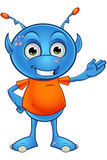 Light Blue Alien Character Stock Images