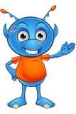 Light Blue Alien Character Stock Images