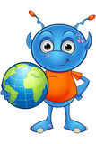 Light Blue Alien Character Royalty Free Stock Photo