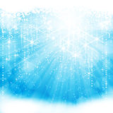 Light blue background. Blue festive sparkling background for winter or Christmas themed occassions. EPS10 Royalty Free Stock Image
