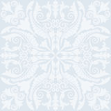 Light blue background. With baroque ornaments Stock Images