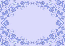 Light blue background. With oval floral border Stock Photography