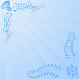 Light blue background. With floral ornaments Stock Photos
