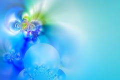 Light blue background. Elegant fractal background in green and blue Stock Photo