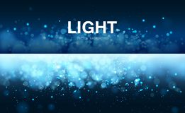Light blue background with bokeh and sparks. stock photos