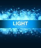 Light blue background with bokeh and sparks. royalty free stock photo