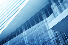 Light blue background of glass high rise building. For business background Royalty Free Stock Photos
