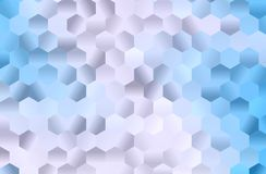 Light blue background with hexagons, bee honeycomb. Simple geometric background with gradient shapes. Vector illustration. Light blue background with hexagons Royalty Free Stock Photography