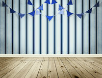 Light blue background with pennants festoon. In sea style Stock Photography