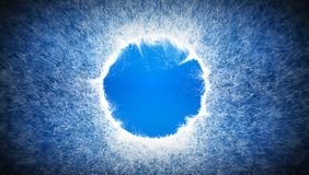 Light blue background with random white particles and with a place for logo.  Stock Photography
