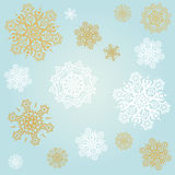 Light blue background with snowflakes Stock Image
