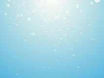 Light blue background with snowflakes Stock Photo