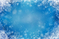 Light blue background with snowflakes. Winter abstract background Royalty Free Stock Image
