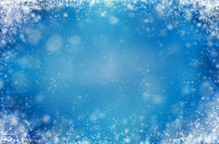Light blue background with snowflakes. Winter abstract background Stock Photography