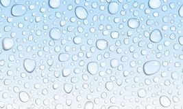 Light blue background of water drops Royalty Free Stock Images