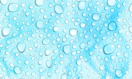 Light blue background of water drops Stock Images