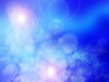 Light blue bokeh background. Light blue  bokeh background made from white lights Stock Photos