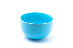 Light blue bowl. Isolated with white background Royalty Free Stock Images